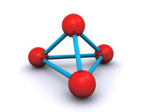 3d molekuła Obrazy Stock