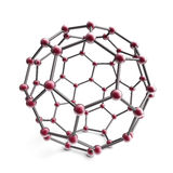 3d molekuły sfera Obrazy Royalty Free
