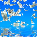 3d money falling Royalty Free Stock Photo