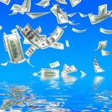 3d money falling Royalty Free Stock Photo