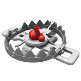 3d - money trap. Money trap, with money sitting as bait, made in 3d software Stock Photo