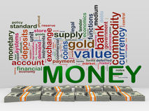 3d money word tags Royalty Free Stock Photos