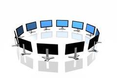 3d monitors Stock Photo