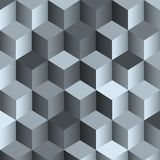 3d monochrome background with cube Royalty Free Stock Image