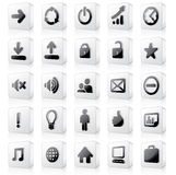 3D Monochrome Interface Icons #1 Stock Image