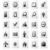 3D Monochrome Interface Icons 2. 3D Monochrome Interface Icons. Set 2 Royalty Free Stock Photography
