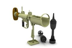 3D Mortar. Over white background Royalty Free Stock Image