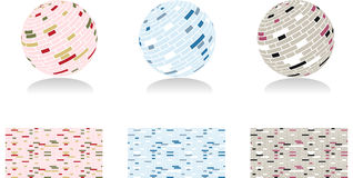 3d mosaic spheres. Raster illustration Stock Images