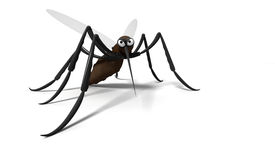 3d mosquito. On white background Royalty Free Stock Images