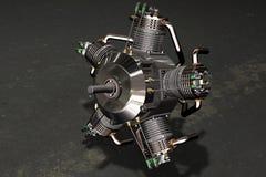 3D motor radiale vliegtuigen Stock Afbeelding