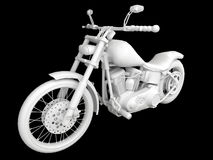 3d motorcycle Royalty Free Stock Image