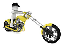 3d motorcycle Stock Image