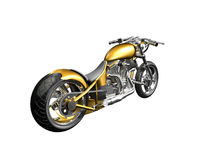 3D Motorcycle rear side view. On white background Royalty Free Stock Photos