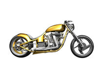 3D Motorcycle side view. On white isolated Stock Image