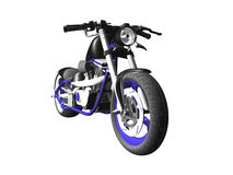 3D motorcycle on white 1 Royalty Free Stock Photos
