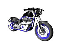 3D Motorcycle on white 4 Stock Photos