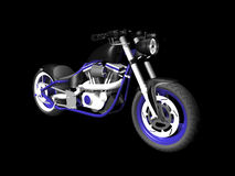 3D Motorcylce on black 4. 3D Motorcycle on black background 4 Stock Images