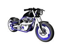 3D Motorfiets op wit 4 Stock Foto's