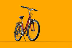 3D mountain bike on orange background. A 3D mountain bike on orange background Stock Image