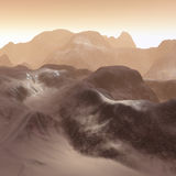 3D mountains landscape Stock Image