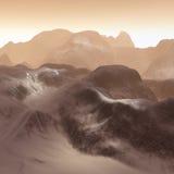 3D mountains landscape. 3D render of fantasy mountains landscape stock illustration