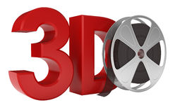 3d Movie. Include Clipping Path Royalty Free Stock Images