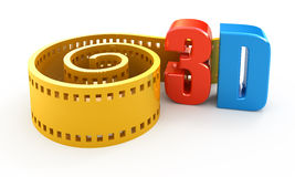 3d movie Royalty Free Stock Image