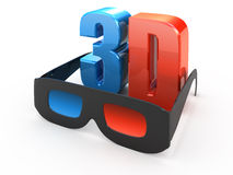 3d movie Stock Photo
