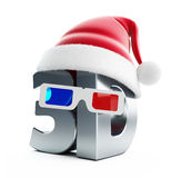 3d movie Christmas hat Stock Photography
