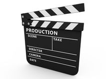 3d movie clapper board Royalty Free Stock Photography