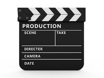 3d movie clapper board Royalty Free Stock Image