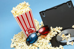 3D Movie Entertainment. A still-life theme based on the experience of 3d movie entertainment Stock Images