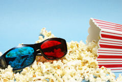 3D Movie Entertainment. A still-life theme based on the experience of 3d movie entertainment Royalty Free Stock Photos