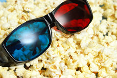 3D Movie Entertainment. A still-life theme based on the experience of 3d movie entertainment Stock Photo