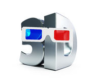 3d movie glasses Stock Photos