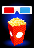 3D movie objects Royalty Free Stock Image