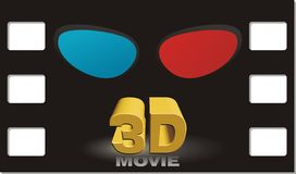 3D movie poster Royalty Free Stock Photography