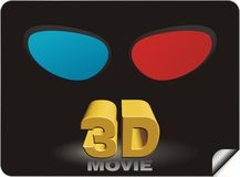3D movie sticker Stock Images