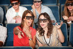 3D Movie Watchers Stock Photos