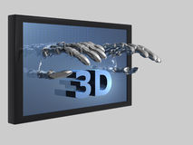 3D movies. Illustration about 3D movies - isolated - 3D Royalty Free Stock Image