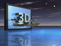 3D movies. Illustration about 3D movies - Background - 3D vector illustration