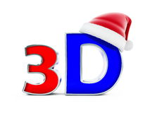 3d movies santa hat Royalty Free Stock Photo