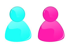 3D msn buttons. 3D msn colored buttons for web design Stock Photography