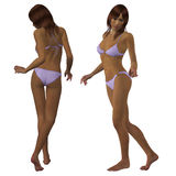 3d mulatto in bikini Stock Photo