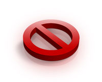 3d multi-use no admittance sign Stock Image