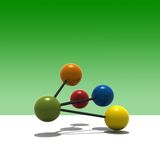 3d multicolor molecule Royalty Free Stock Photography
