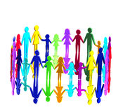 3D - Multicultural community royalty free illustration