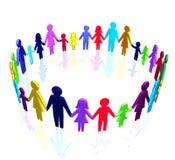 3D - Multiculturele gemeenschap Royalty-vrije Stock Afbeeldingen