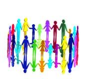 3D - Multikulturelle Gemeinschaft lizenzfreie abbildung