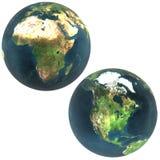 3D mundo África y Norteamérica stock de ilustración